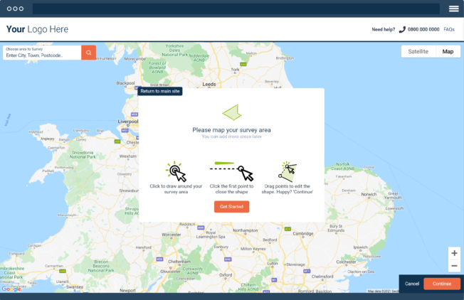 MapitApp - welcome page